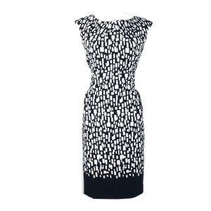 Calvin Klein 8 dress shift ikat evening sleeveless